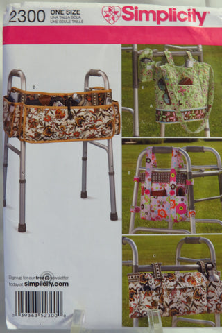 Simplicity 2300 Walker Accessories Bags -  - Smiths Depot Sewing Pattern Superstore