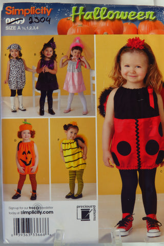 Simplicity 0809 Toddler's Costume -  - Smiths Depot Sewing Pattern Superstore