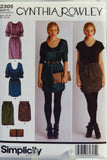 Simplicity 2305 Misses' Dresses and Skirts, Each in Two Lengths and Purse - P5 (12-14-16-18-20) - Smiths Depot Sewing Pattern Superstore  - 2