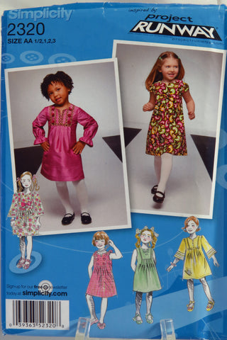 Simplicity 2320 Toddlers' and Child's Dress with Sleeve and Trim Variations -  - Smiths Depot Sewing Pattern Superstore