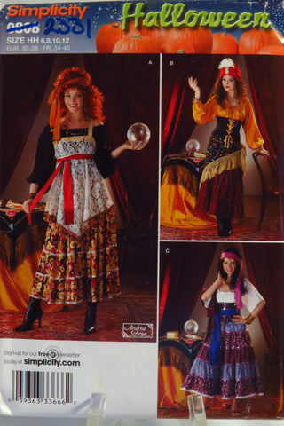 Simplicity 0808 Misses' Costumes -  - Smiths Depot Sewing Pattern Superstore