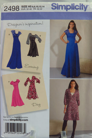 Simplicity 2498 Misses'/Miss Petite Dress in Three Lengths with Bodice Variations - H5 (6-8-10-12-14) - Smiths Depot Sewing Pattern Superstore  - 1