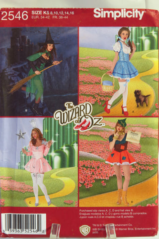 Simplicity 2546 Misses' Dress Costumes - K5 (8-10-12-14-16) - Smiths Depot Sewing Pattern Superstore
