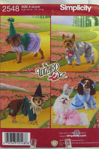 Simplicity 2548 Dog Costumes in Three Sizes -  - Smiths Depot Sewing Pattern Superstore