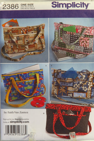 Simplicity 2386 Laptop Totes in Two Sizes -  - Smiths Depot Sewing Pattern Superstore
