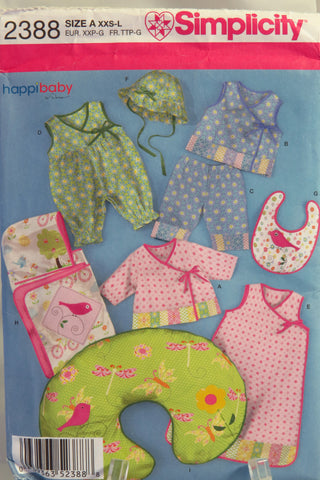 Simplicity 2388 Babies' Layette and Hat in Three Sizes -  - Smiths Depot Sewing Pattern Superstore