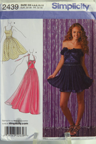 Simplicity 2439 Misses' Dress in Three Lengths -  - Smiths Depot Sewing Pattern Superstore