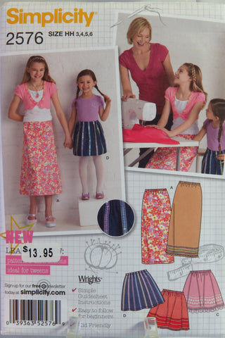 Simplicity 2576 Child's/Girls' Skirts - HH (3-4-5-6) - Smiths Depot Sewing Pattern Superstore  - 2