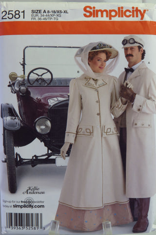 Simplicity 2581 Unisex Coat and Hat and Misses Coat and Hat -  - Smiths Depot Sewing Pattern Superstore