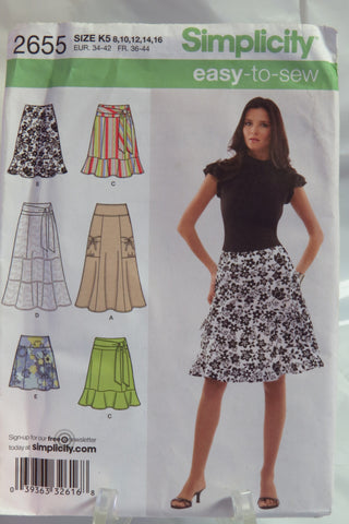 Simplicity 2655 Misses' and Miss Petite Skirt in Three Lengths - K5 (8-10-12-14-16) - Smiths Depot Sewing Pattern Superstore  - 2
