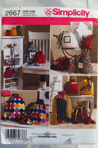 Simplicity 2667 Organizers -  - Smiths Depot Sewing Pattern Superstore