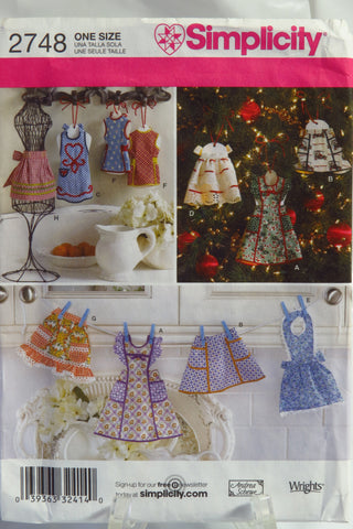 Simplicity 2748 Apron Ornaments -  - Smiths Depot Sewing Pattern Superstore