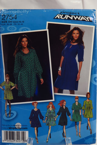 Simplicity 2754 Misses Dress with Bodice and Sleeve Variations - D5 (4-6-8-10-12) - Smiths Depot Sewing Pattern Superstore