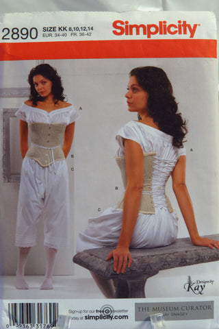 Simplicity 2890 Misses Drawers Chemise And Corset Smiths Depot