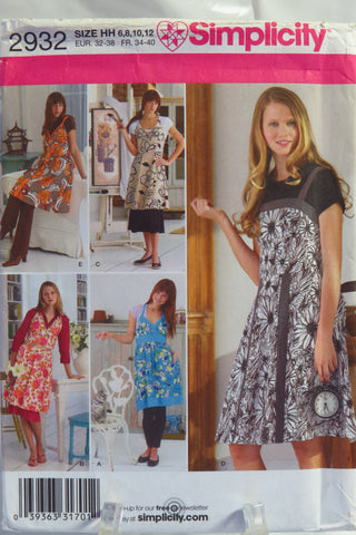 Simplicity 2932 Misses' Aprons - HH (6-8-10-12) - Smiths Depot Sewing Pattern Superstore
