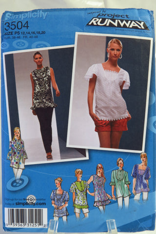 Simplicity 3504 Misses' Top with Neckline and Sleeve Variations - P5 (12-14-16-18-20) - Smiths Depot Sewing Pattern Superstore
