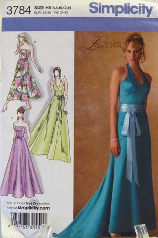 Simplicity 3784 Misses'/Miss Petite Lined Dress in Three Lengths with Bodice Variations - H5 (6-8-10-12-14) - Smiths Depot Sewing Pattern Superstore