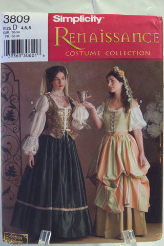 Simplicity 3809 Misses' Costumes - D (4-6-8) - Smiths Depot Sewing Pattern Superstore  - 1
