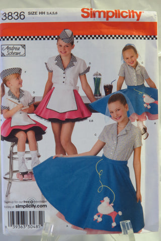 Simplicity 3836 Child's and Girls' Costumes - HH (3-4-5-6) - Smiths Depot Sewing Pattern Superstore
