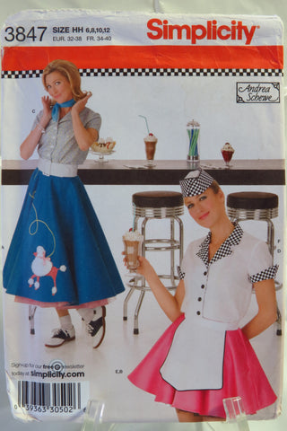 Simplicity 3847 Misses' Costumes - HH (6-8-10-12) - Smiths Depot Sewing Pattern Superstore  - 2