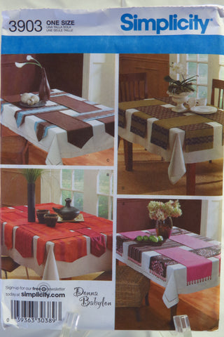 Simplicity 3903 Table Runners -  - Smiths Depot Sewing Pattern Superstore