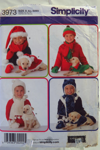 Simplicity 3973 Childs' and Dog Accessories - A (ALL SIZES) - Smiths Depot Sewing Pattern Superstore