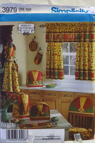 Simplicity 3979 Kitchen Accessories and Misses' Apron in One Size Fits Most -  - Smiths Depot Sewing Pattern Superstore