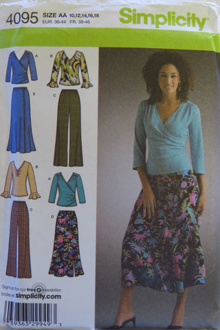 Simplicity 4095 Misses'/Women's Pants, Skirt and Knit Top - AA (10-12-14-16-18) - Smiths Depot Sewing Pattern Superstore