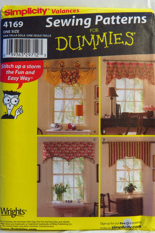Simplicity 4169 Window Treatments -  - Smiths Depot Sewing Pattern Superstore