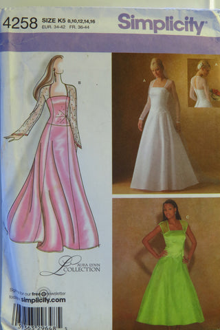 Simplicity 4258 Misses'/Miss Petite Special Occasion Dress in Two Lengths -  - Smiths Depot Sewing Pattern Superstore  - 1