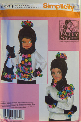 Simplicity 4444 Child's and Misses' Hat and Mittens, Scarf and Bag -  - Smiths Depot Sewing Pattern Superstore