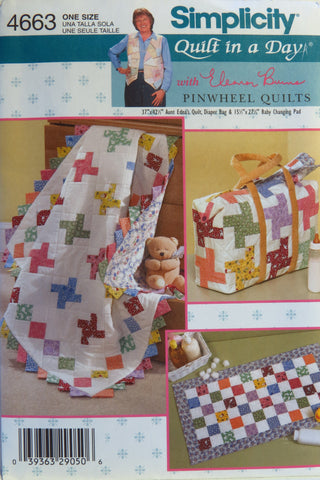 Simplicity 4663 Quilt in a Day -  - Smiths Depot Sewing Pattern Superstore
