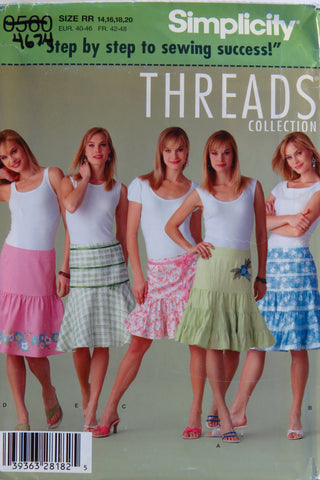 Simplicity 0560 Misses' Skirts - RR (14-16-18-20) - Smiths Depot Sewing Pattern Superstore
