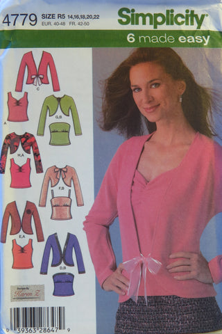 Simplicity 4779 Misses' Knit Twin Sets - R5 (14-16-18-20-22) - Smiths Depot Sewing Pattern Superstore