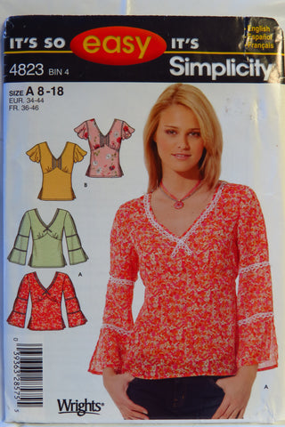 32f661687 Simplicity 4823 Misses  Pullover Top – Smiths Depot Sewing Pattern ...