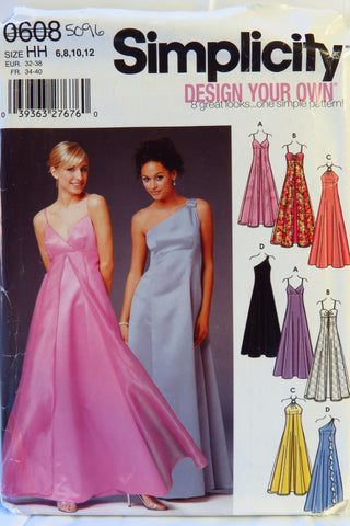Simplicity 0608 Misses' and Miss petite Design Your Own Dress with Bodice Variations - HH (6-8-10-12) - Smiths Depot Sewing Pattern Superstore