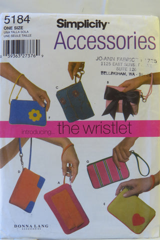 Simplcity 5184 Wrist Bags and Purses -  - Smiths Depot Sewing Pattern Superstore