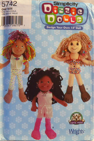 "Simplicity 5742 Design Your Own 14"" Doll -  - Smiths Depot Sewing Pattern Superstore"