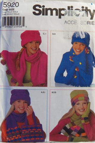 Simplicity 5920 Fleece Accessories -  - Smiths Depot Sewing Pattern Superstore