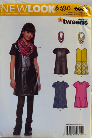 New Look 0611 Girls' Five Sizes in One Skirt -  - Smiths Depot Sewing Pattern Superstore