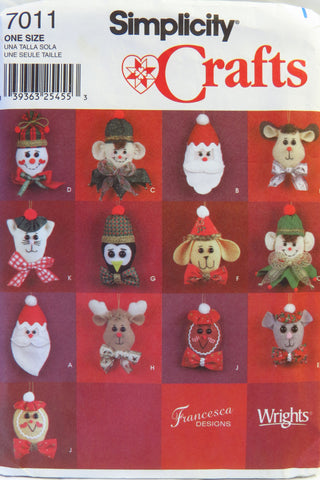 Simplicity 7011 Holiday Accessories -  - Smiths Depot Sewing Pattern Superstore