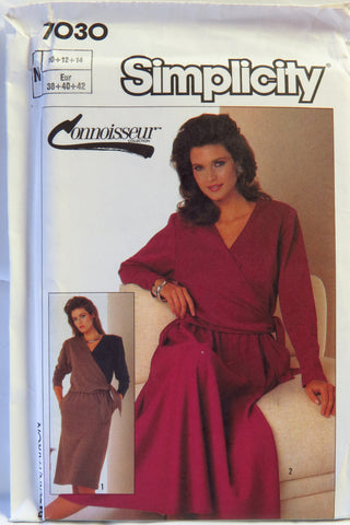 Simplicity 7030 Misses' Knit Dress with Straight or Half-Circle Skirt - Miss 10-12-14 - Smiths Depot Sewing Pattern Superstore