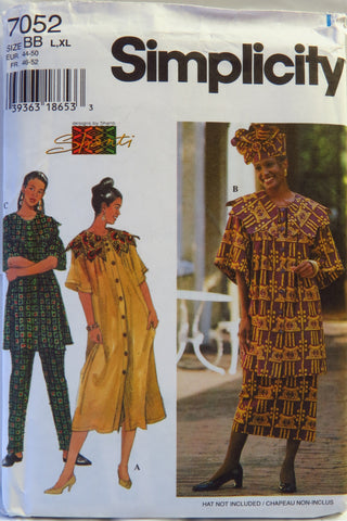 Simplicity 7052 Misses Dress, Top, Skirt and Pants - BB (L-XL) - Smiths Depot Sewing Pattern Superstore