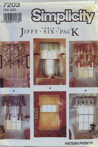 Simplicity 7203 Window Treatments -  - Smiths Depot Sewing Pattern Superstore