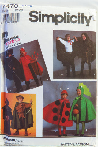 Simplicity 7470 Child's Costumes with Cape, Robe and Headpieces -  - Smiths Depot Sewing Pattern Superstore