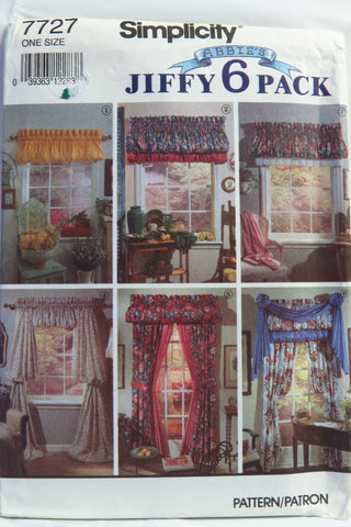 Simplicity 7727 Window Treatments -  - Smiths Depot Sewing Pattern Superstore