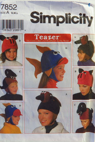 Simplicity 7852 Child's and Adult Hat -  - Smiths Depot Sewing Pattern Superstore
