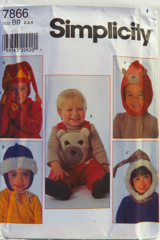 Simplicity 7866 Toddler's Overalls and Accessories -  - Smiths Depot Sewing Pattern Superstore