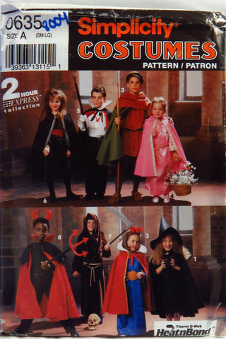 Simplicity 0635 Child's Costumes -  - Smiths Depot Sewing Pattern Superstore