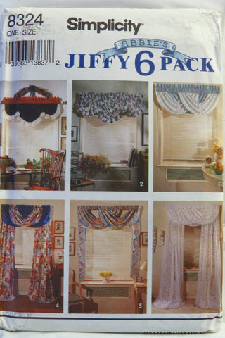 Simplicity 8324 Window Treatments -  - Smiths Depot Sewing Pattern Superstore